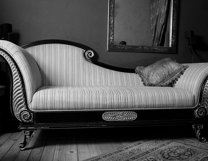 Therapy couch for emotional trauma