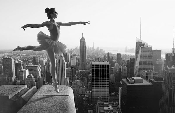 Ivan black and white ballerina