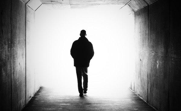 Ivan black and white man walking again