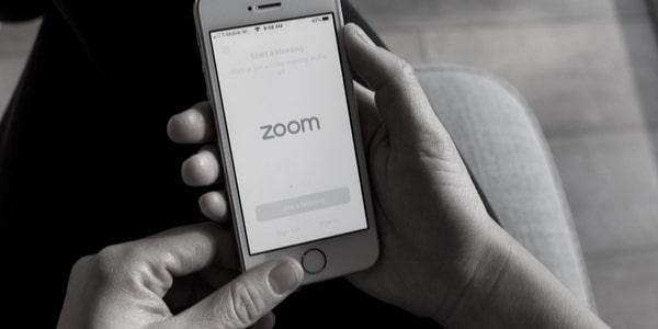 zoom meeting iphone black and white