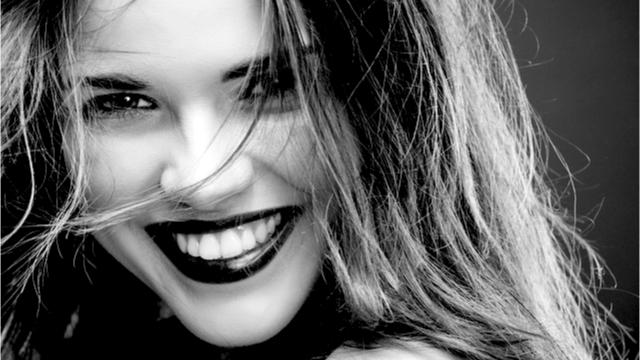 Portrait of happy female smiling