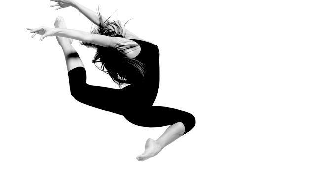 Female dancer jumping in the air -emotional freedom concept